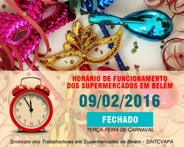 Supermercados não abrem na terça-feira de Carnaval